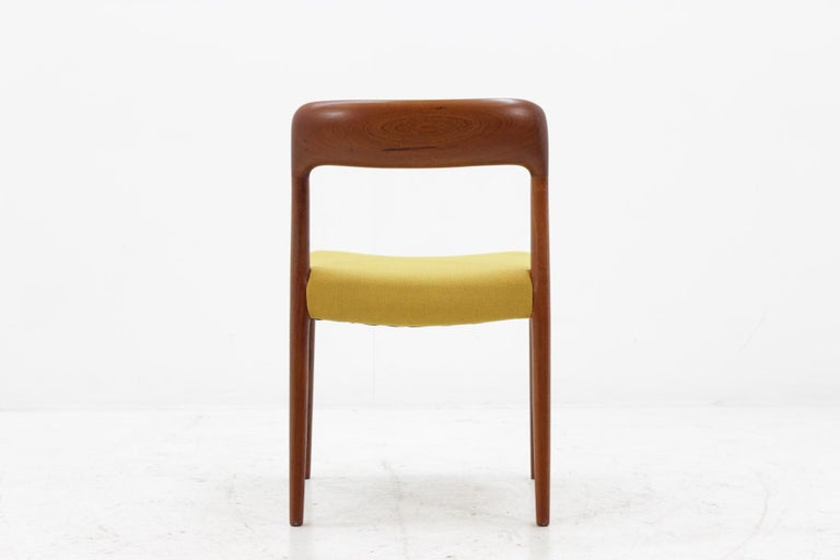 1960 Niels O. Møller Model 75 Chairs in Teak for J.L. Møllers, Set of Four For Sale 2