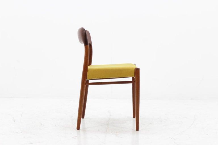 1960 Niels O. Møller Model 75 Chairs in Teak for J.L. Møllers, Set of Four For Sale 3