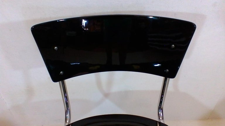 Mid-20th Century Retro Chromed Chair by Jindřich Halabala, 1930s For Sale