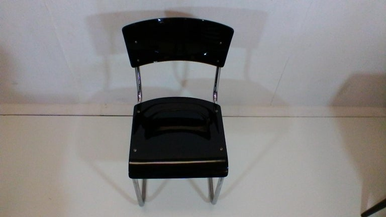 Retro Chromed Chair by Jindřich Halabala, 1930s For Sale 3