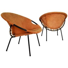 Set of Two Circle Armchairs by Lusch Erzeugnis, 1960s