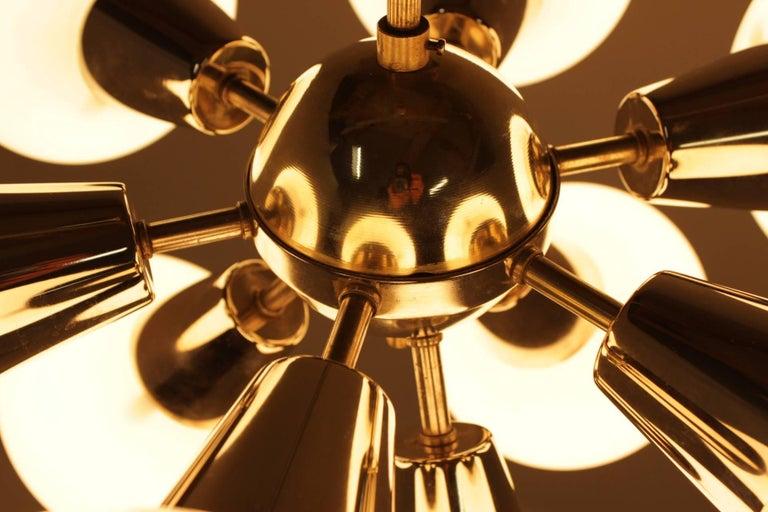 Czech Midcentury Sputnik Chandelier Kamenický Šenov, 1970s For Sale