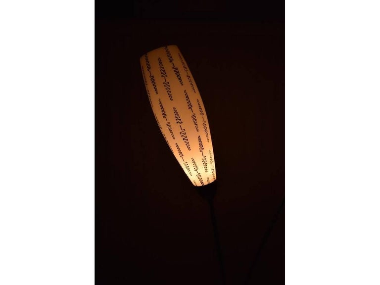 Glazed Midcentury Lamp by Kamenický Šenov Czechoslovakia, the 1950s For Sale