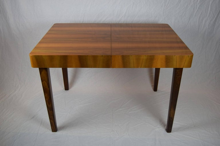 Set of Four Teak Dining Chairs and Dining Table, 1960s In Good Condition For Sale In Praha, CZ