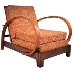 Extendable Armchair by Jindrich Halabala, 1930s