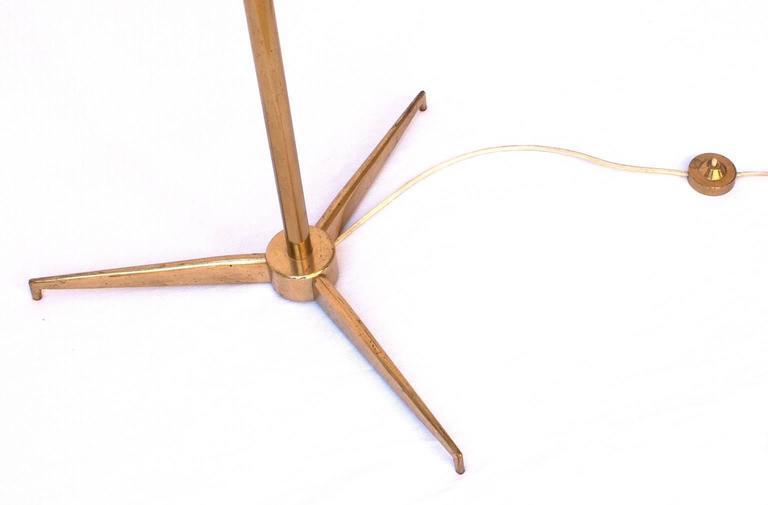 Mid-Century Modern Angelo Lelii, Triennale Floor Lamp, Arredoluce, 1947 For Sale