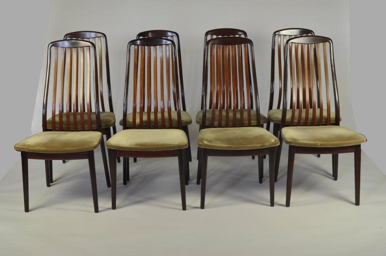 Set of Eight 1970s Rosewood High-Back Dining Chairs 2