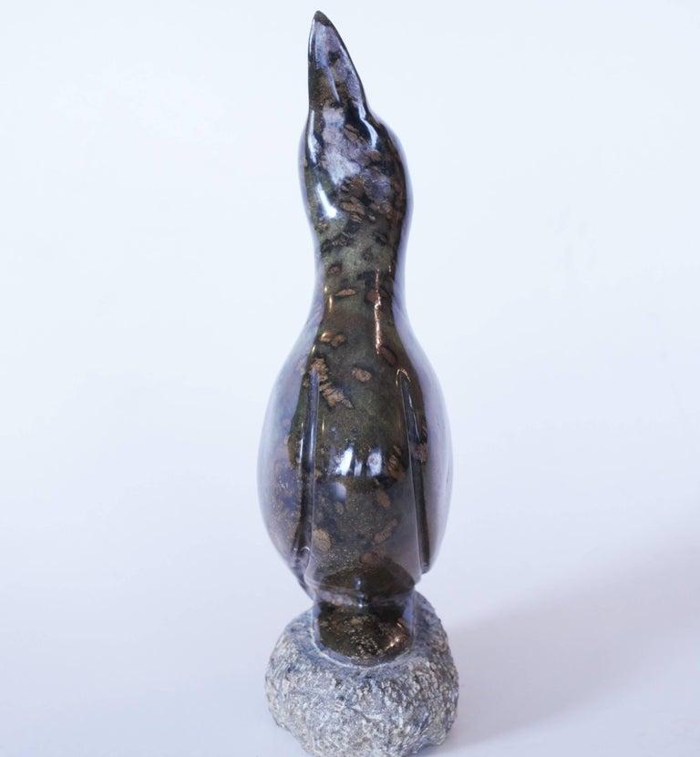 Modern carved stone bird sculpture at stdibs