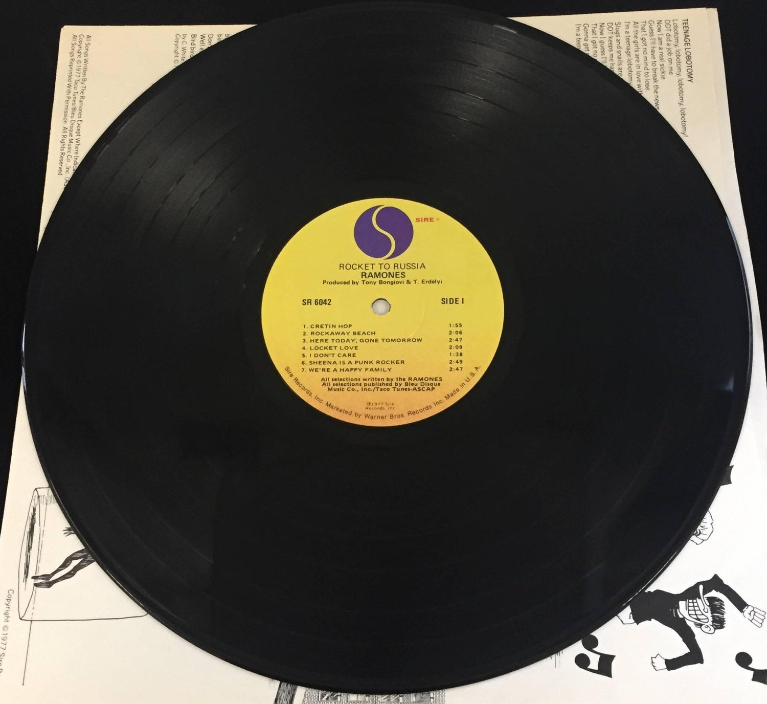 Original the Ramones, Rocket to Russia Vinyl Record For Sale at 1stdibs