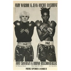 Warhol Basquiat Shafrazi Boxing Advertisement, 1985