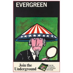 Tomi Ungerer, Evergreen Review Protest Poster, 1967