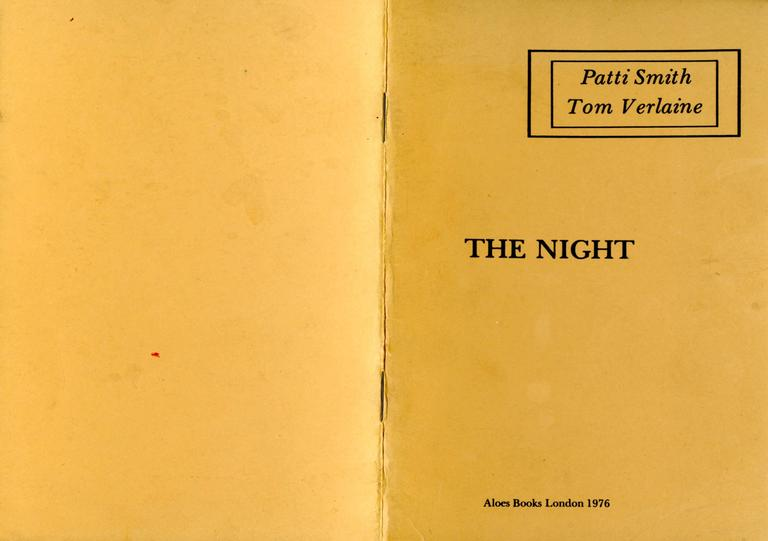 Patti Smith early poetry book