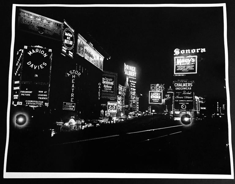 Time Square at Night, New York City, Mid-1930s 2
