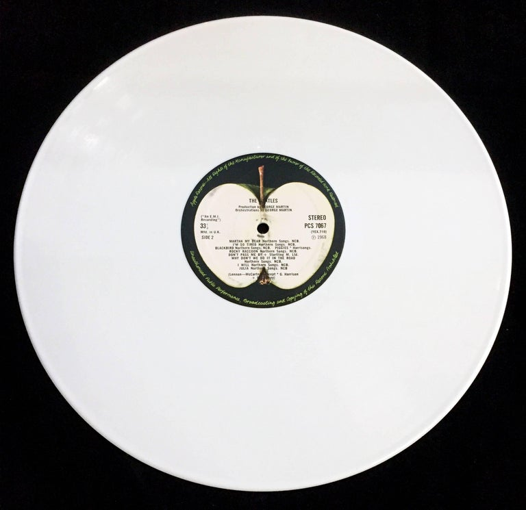 Beatles White Album Rare White Vinyl Pressing At 1stdibs