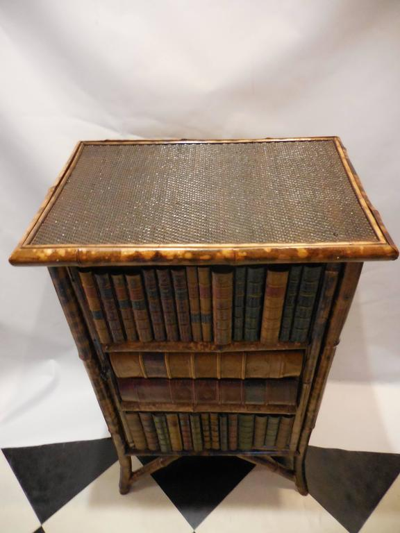 Mid-20th Century Bamboo Library Cabinet 3