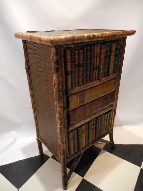 Mid 20th century bamboo library cabinet for sale at 1stdibs for Mid 20th century furniture