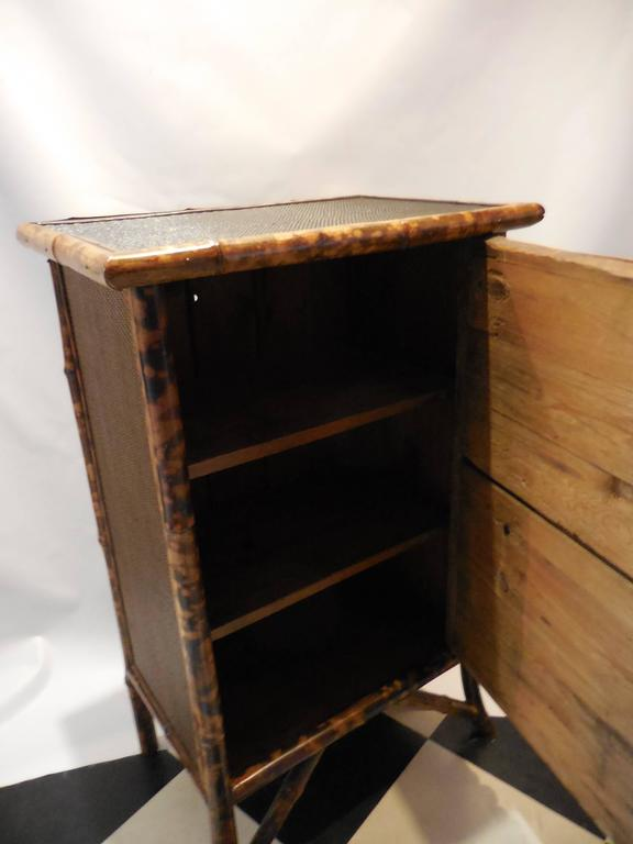 Mid-20th Century Bamboo Library Cabinet 5