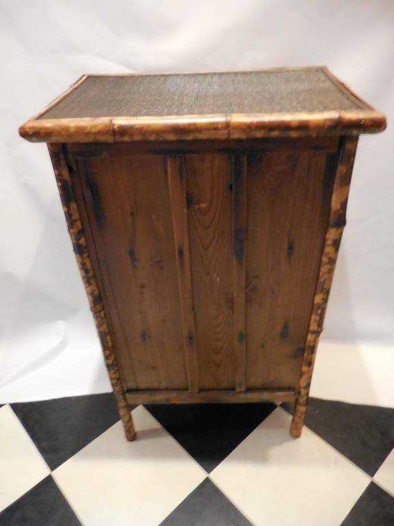 Mid-20th Century Bamboo Library Cabinet 7