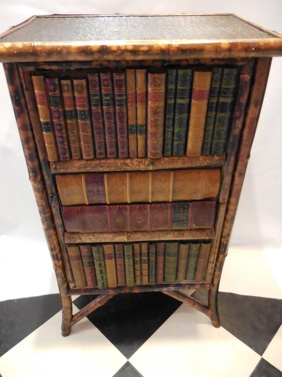 Mid-20th Century Bamboo Library Cabinet 8