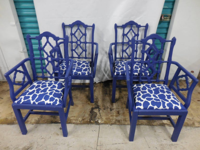 Mid-Century Chippendale Dining Chairs, Set of Eight 2