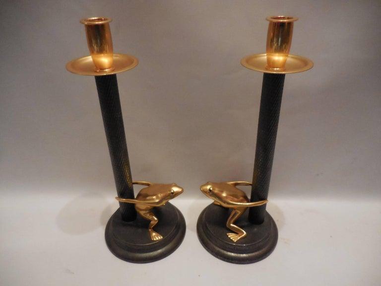 Vintage-Signed Italian Candleholders, Pair 3