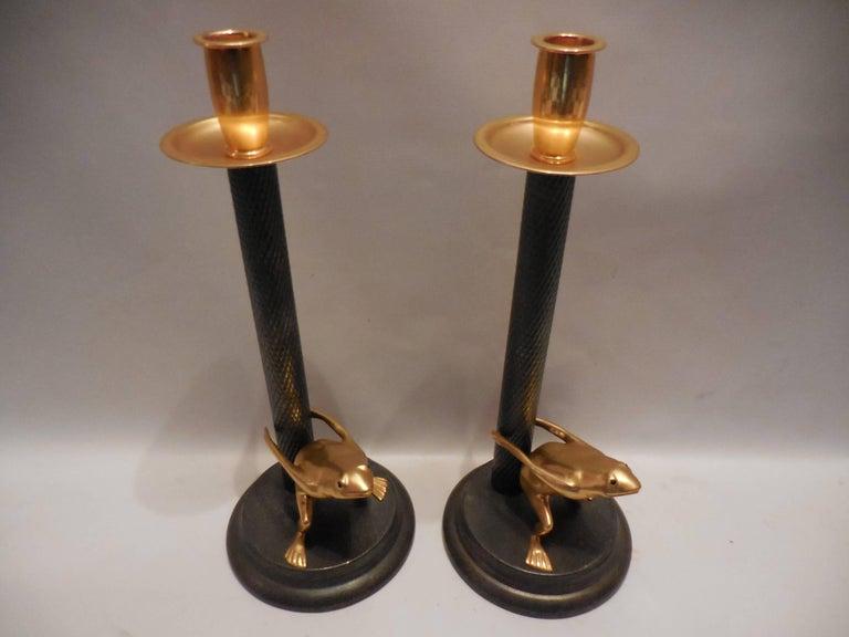 Vintage-Signed Italian Candleholders, Pair 2