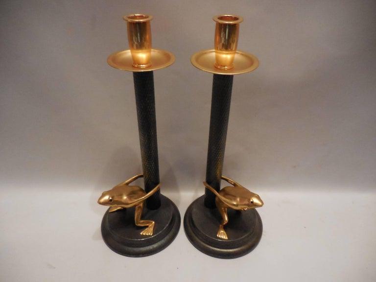 Vintage-Signed Italian Candleholders, Pair 4