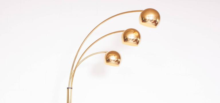 Mid Century Modern Arc Lamp In Brass From The 1970s At 1stdibs