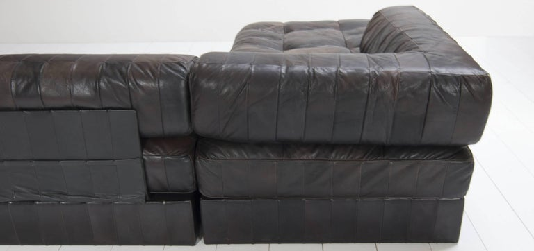 De Sede Sofa DS 88 with Patchwork Upholstery, Six-Elements 3