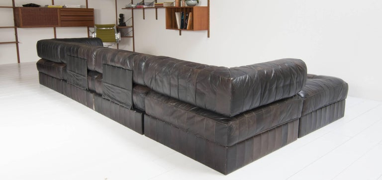 De Sede Sofa DS 88 with Patchwork Upholstery, Six-Elements 4