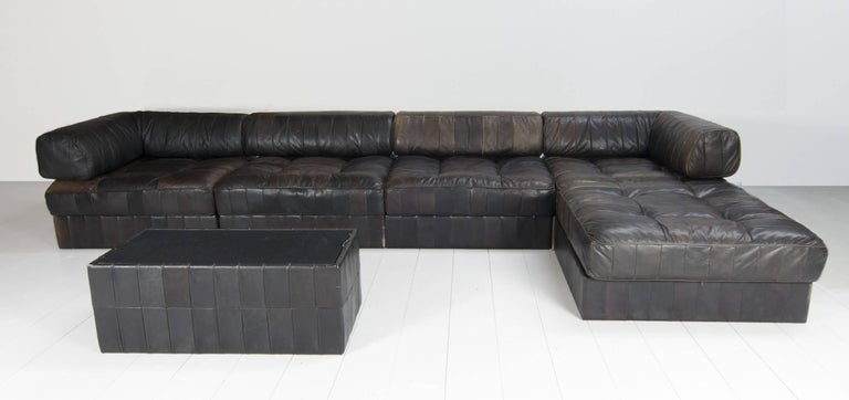 De Sede Sofa DS 88 with Patchwork Upholstery, Six-Elements 2