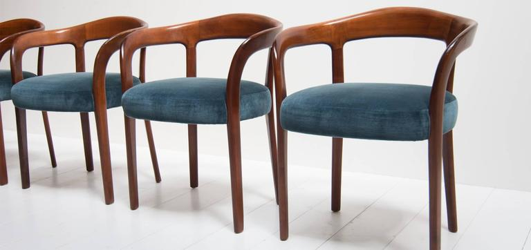 Vintage dining chairs produced in germany set of four at
