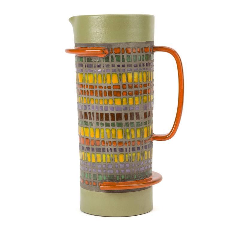 Signed Glazed Ceramic Vase by Cau G. Bitossi & Figli, 2016 For Sale