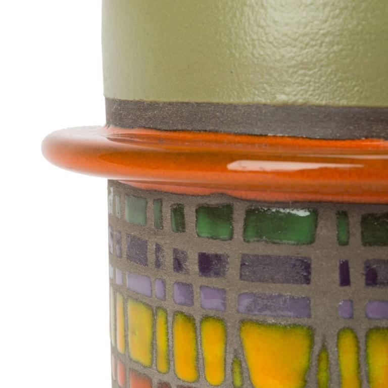 Italian Signed Glazed Ceramic Vase by Cau G. Bitossi & Figli, 2016 For Sale