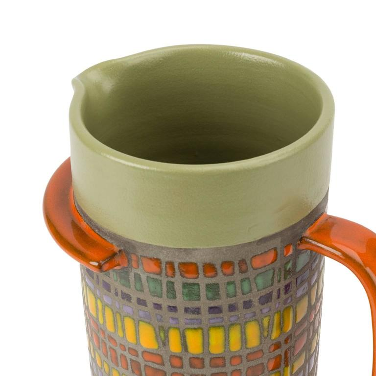 Signed Glazed Ceramic Vase by Cau G. Bitossi & Figli, 2016 In Good Condition For Sale In LOS ANGELES, CA