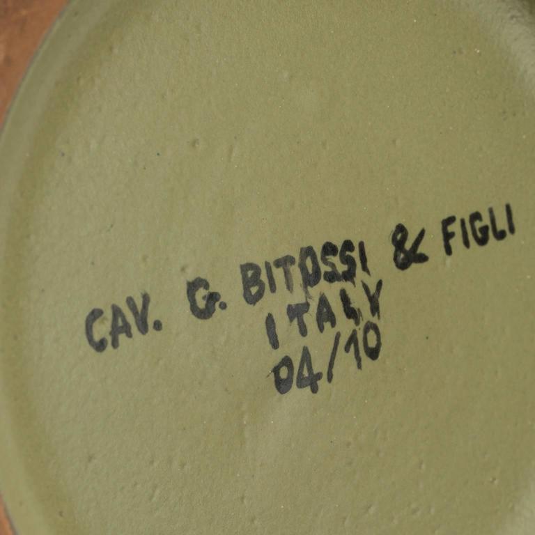 Contemporary Signed Glazed Ceramic Vase by Cau G. Bitossi & Figli, 2016 For Sale