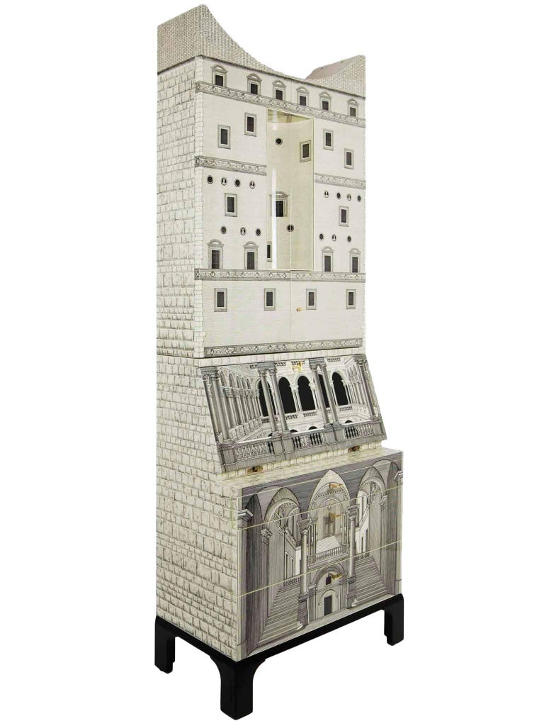 Fornasetti-Trumeau Architecture Black or Ivory, 2017 In Good Condition For Sale In LOS ANGELES, CA