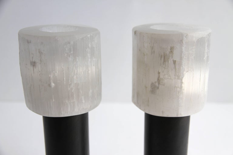 French Sophie Dries Pair of Candleholders N.3 For Sale