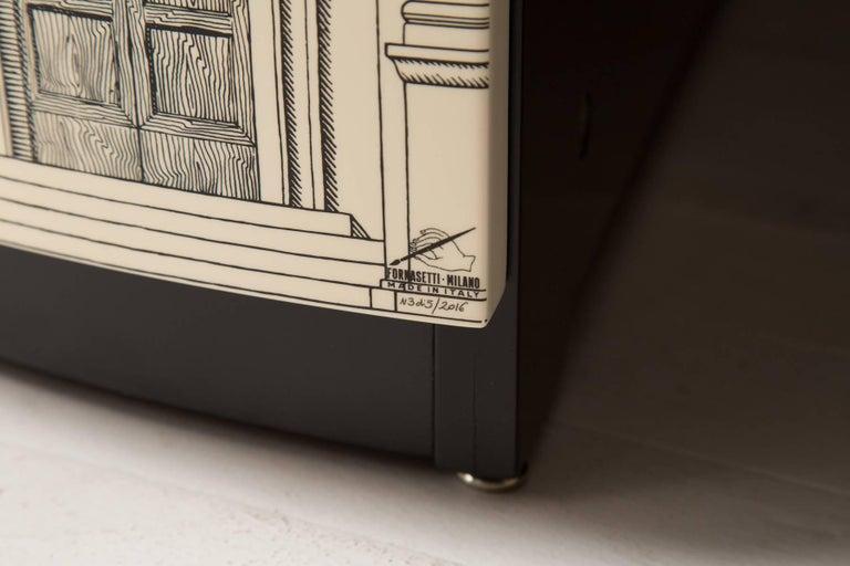 Lacquered Fornasetti Corner Cabinet Architettura For Sale