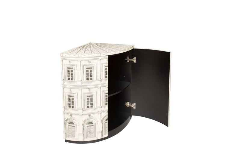 Fornasetti Corner Cabinet Architettura In Excellent Condition For Sale In LOS ANGELES, CA