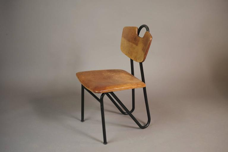 prefacto chair by pierre guariche for airborne france 1951 for sale at 1stdibs. Black Bedroom Furniture Sets. Home Design Ideas