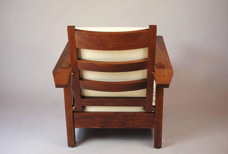 Amazing American Oak Reclining Chair 1900S Machost Co Dining Chair Design Ideas Machostcouk
