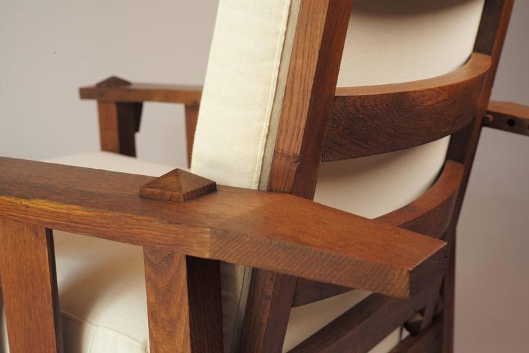 American Oak Reclining Chair 1900s For Sale At 1stdibs