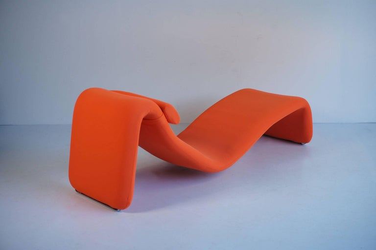 Djinn Lounge Chair, Model 8412 for Airborne International, France, 1965 In Good Condition In Catonvielle, FR