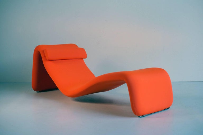 French Djinn Lounge Chair, Model 8412 for Airborne International, France, 1965