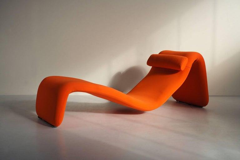 Metal Djinn Lounge Chair, Model 8412 for Airborne International, France, 1965