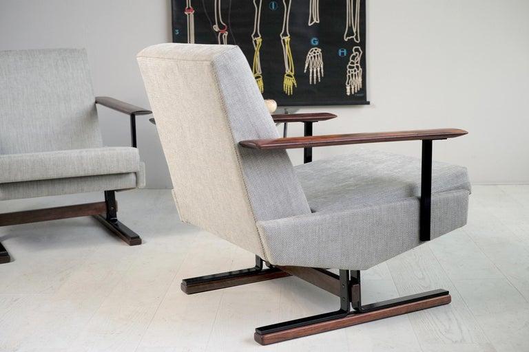 Pair of Sleigh Armchairs, Gelderland, 1960 For Sale 2