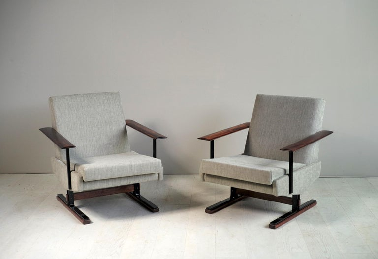 Pair of Sleigh Armchairs, Gelderland, 1960 In Good Condition For Sale In Catonvielle, FR