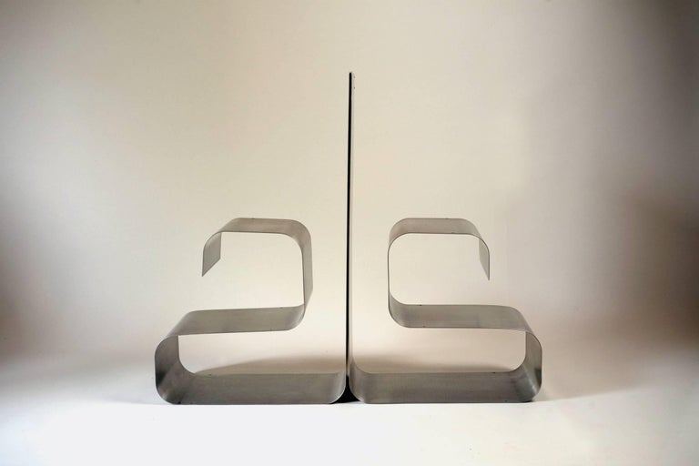 Late 20th Century Zig-Zag Shelves by Joelle Ferlande & François Monnet for Kappa, 1970, Set of Two For Sale