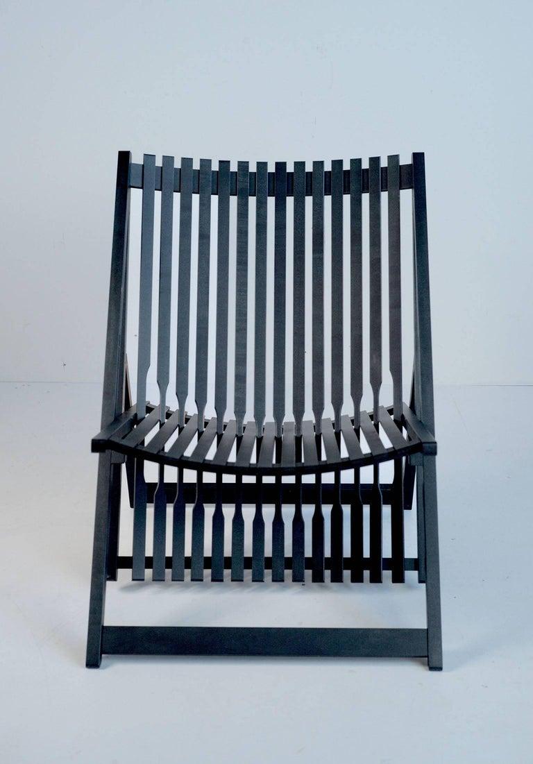 Ebonized Jean-Claude Duboys, Pair of A1 Armchairs, France, 1980 For Sale